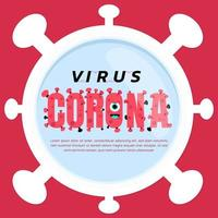 cartaz temático do vírus da coroa ou do coronavírus vetor