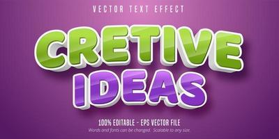 efeito de texto editável em negrito 3d vetor