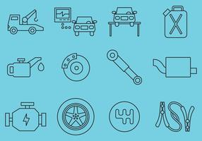 Ícones de manutenção do carro