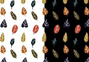 Vetor de padrão de folha livre