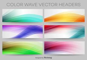 Cabeçalhos coloridos do vetor da onda