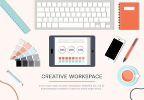 Espaço de trabalho livre do vetor criativo