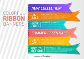 Conjunto de 6 elementos de vetores de etiquetas promocionais