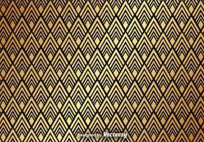 Fundo abstrato dourado do vetor padrão