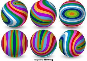 Esferas 3D coloridas do vetor