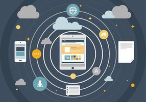 Dimensão digital do vetor livre