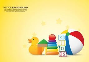 Fundo de brinquedos para crianças vetor