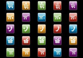 Botões de web grátis set 09 vector