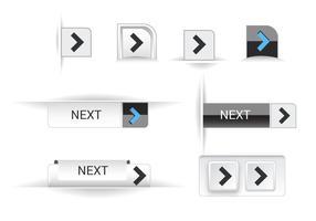Botões de web de reprodução grátis set 02 vector