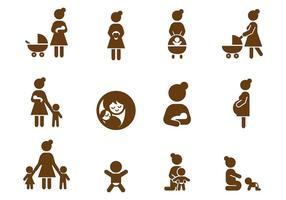 Vector grátis de ícones de mães