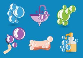 Vetor de bolhas de sabão