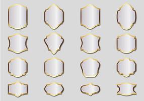 Vector de quadros de prata grátis