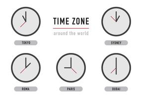 Relógios de fuso horário vetor