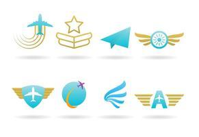 Logos de avião vetor