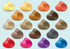 Amostras coloridas de cabelo vetor