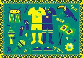 Vetorial das ilustrações de Brasil