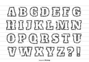 Conjunto de alfabetos de vetores de estilo grunge