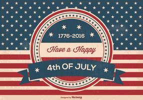 Ilustração retro do Dia da Independência vetor