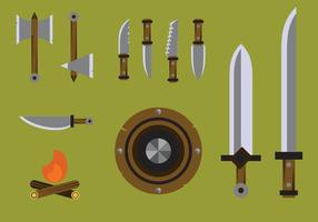 Vetores de armas bárbaros livres