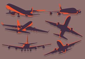 Vetorial silhueta avion vetor