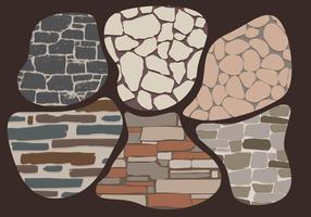 Vetor de parede de pedra