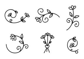 Vector de elementos florais grátis