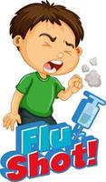 palavra '' vacina contra a gripe '' com tosse