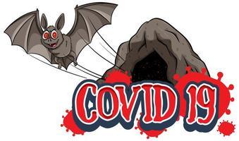 morcego voando para fora da caverna vetor