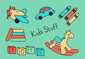 Brinquedos para crianças vetor