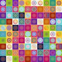 conjunto de padrões de mandalas vetor