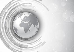fundo de comunicações de rede com design do globo vetor
