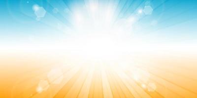 design de banner com tema de verão sunburst vetor