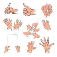 coleção de desenhos simples de mão vetor
