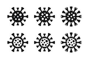 ícones mínimos de coronavírus covid-19 vetor