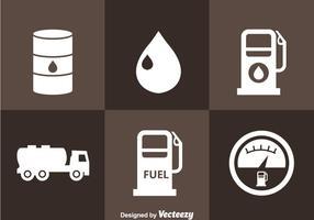 Ícones da estação de gasolina vetor