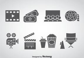 Ícones de elementos de cinema vetor