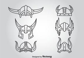 Vetor de capacete de cavaleiro
