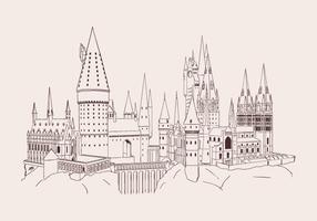 Vetor desenhado à mão por hogwarts