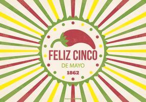 Ilustração retro de Cinco de Mayo vetor