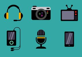 Vetor de ícones de dispositivos grátis