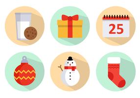 Pacote grátis de vetores de ícones de natal