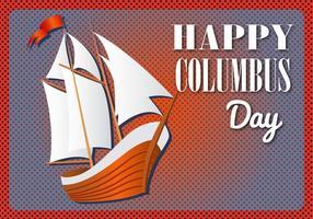 Vetor feliz dia feliz de Columbo