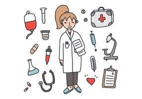 O pacote médico vetorial vetor