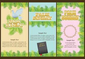 Folhetos do domingo de palmeiras vetor