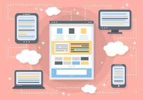 Fundo de vetor de design web gratuito