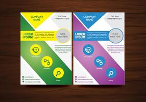 Folheto do vetor Design do Flyer Modelo de layout em tamanho A4