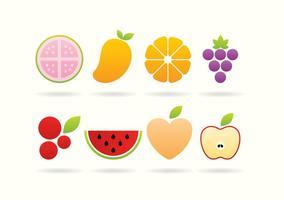 Logos de frutas vetor