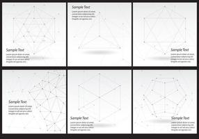 Folhetos de tecnologia de linha vetor
