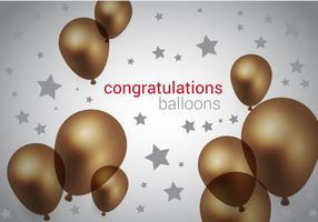 Vetor de balões marrons grátis