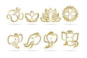 Logos indianos vetor